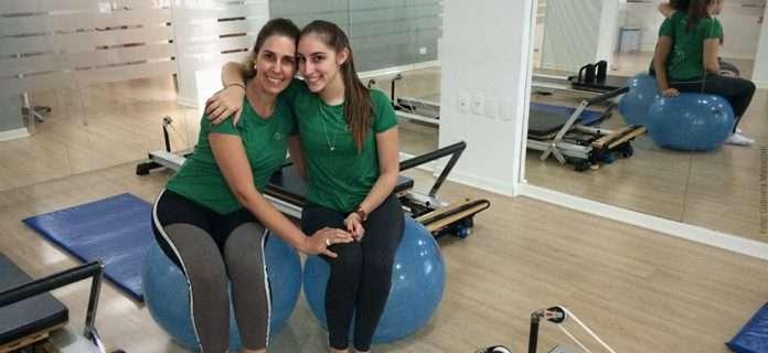 Gabriela Malucceli e a mamãe pilateira